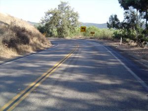 San Diego road before slurry application
